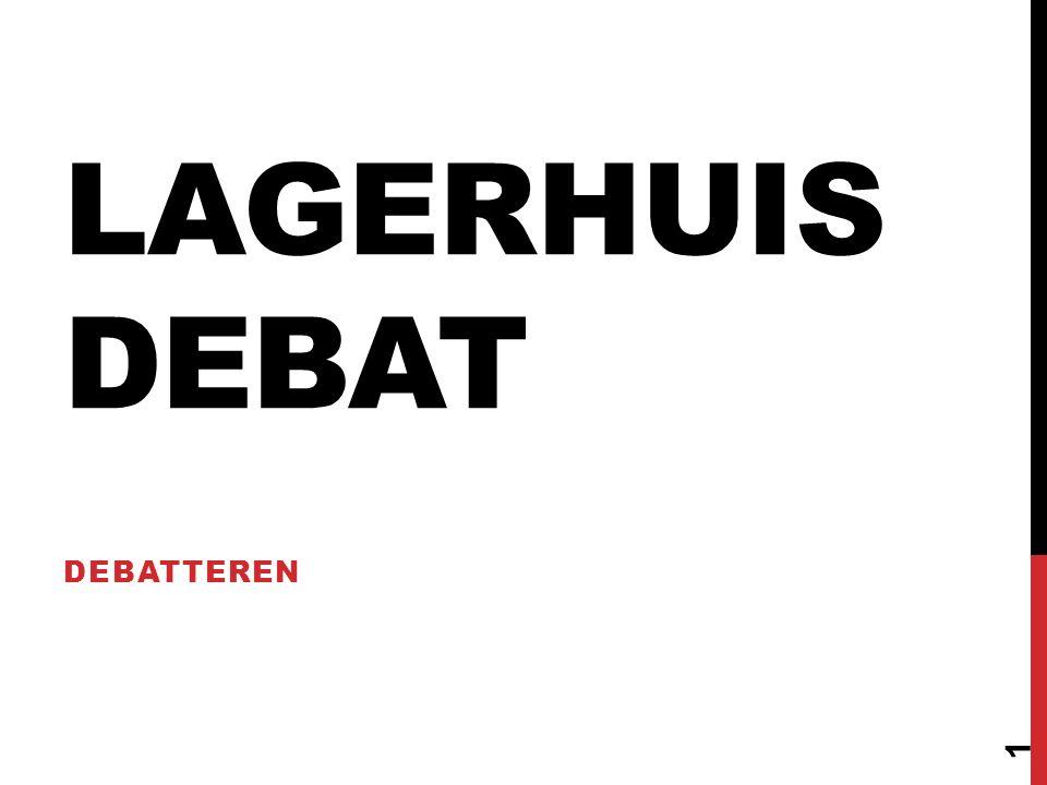 1.Beargumenteerd je mening geven.2.Wat een (Lagerhuis)debat is.