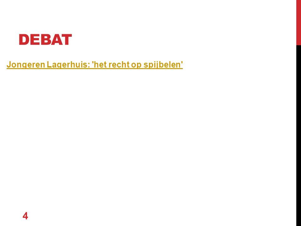 Jongeren Lagerhuis: 'het recht op spijbelen' 4 DEBAT
