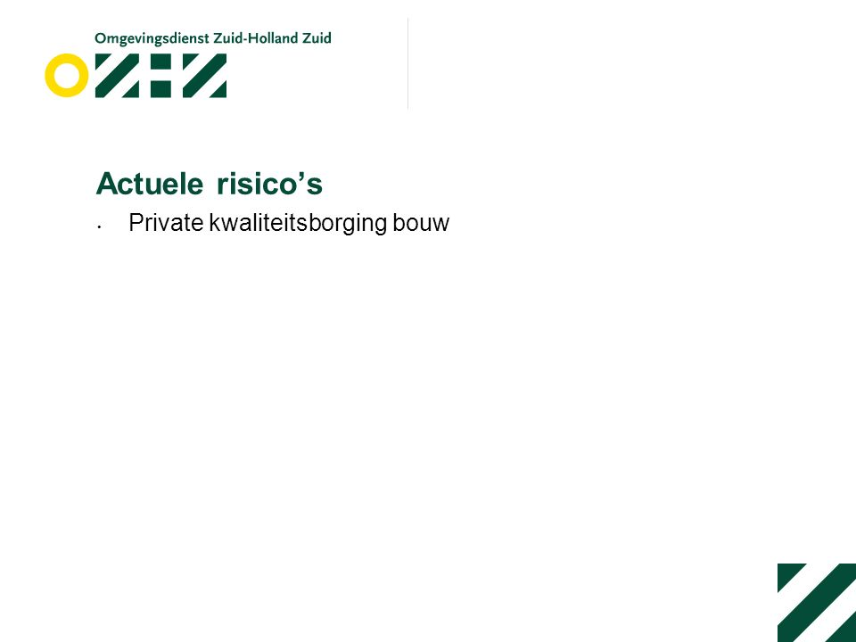 Actuele risico's Private kwaliteitsborging bouw