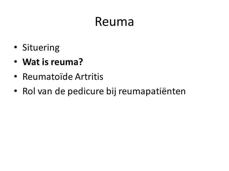 Wat is Reuma nu ook alweer.