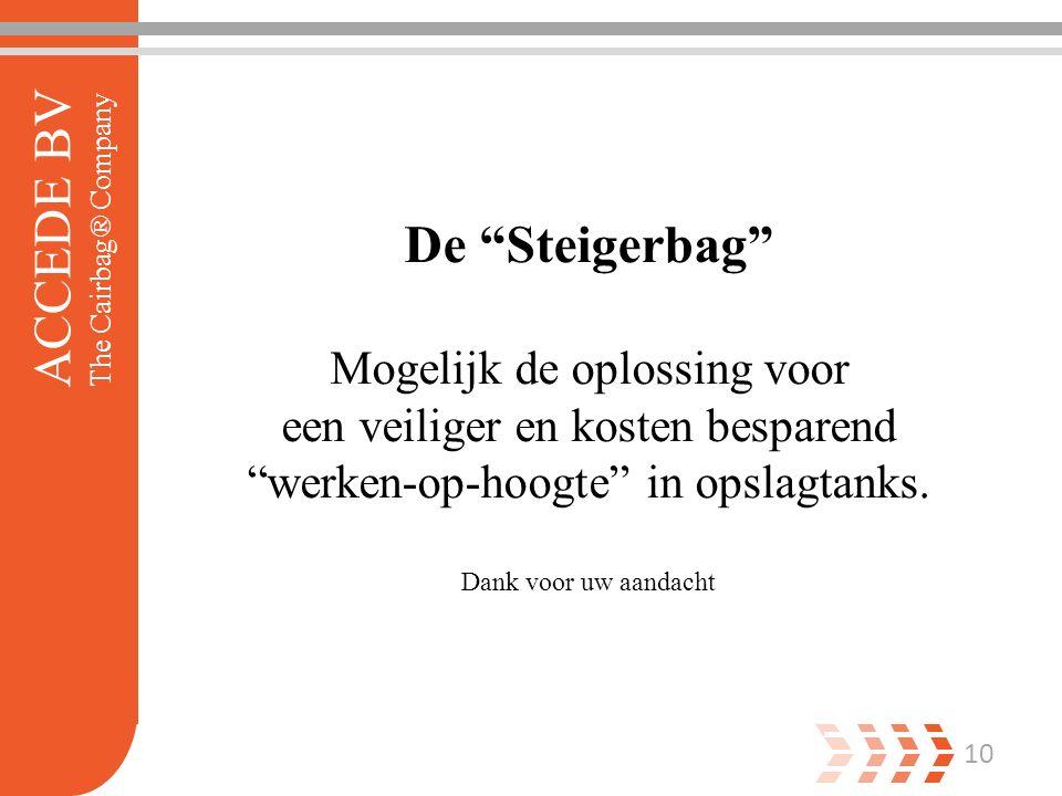 10 De Steigerbag Mogelijk de oplossing voor een veiliger en kosten besparend werken-op-hoogte in opslagtanks.