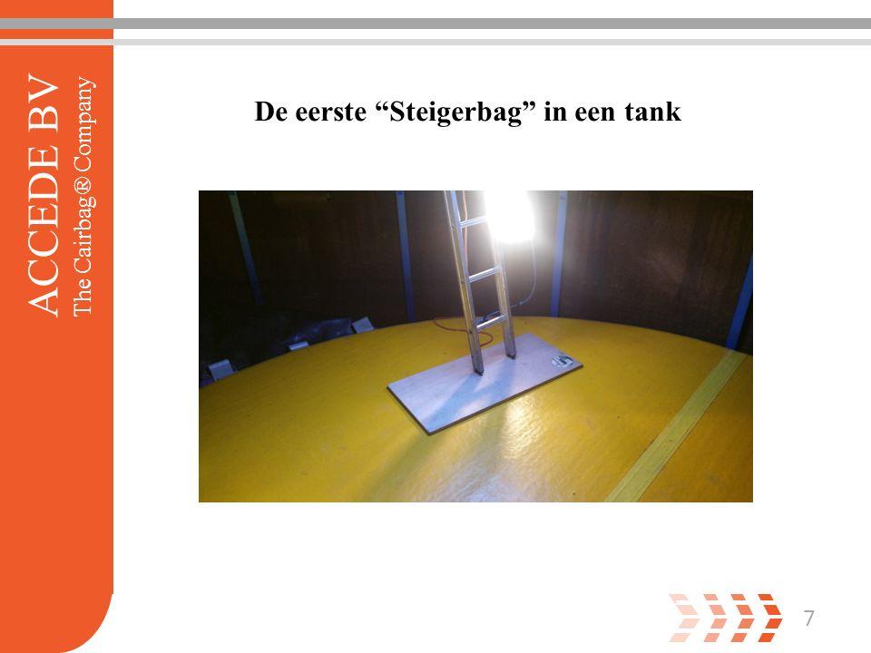 7 ACCEDE BV The Cairbag® Company De eerste Steigerbag in een tank