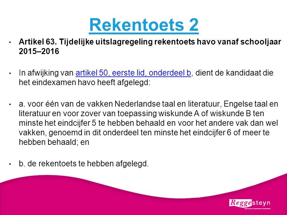 Rekentoets 2 Artikel 63.