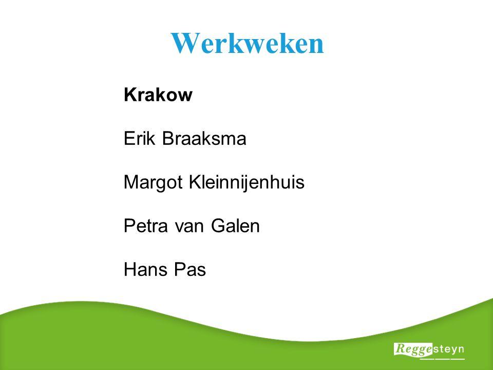 Werkweken Krakow Erik Braaksma Margot Kleinnijenhuis Petra van Galen Hans Pas