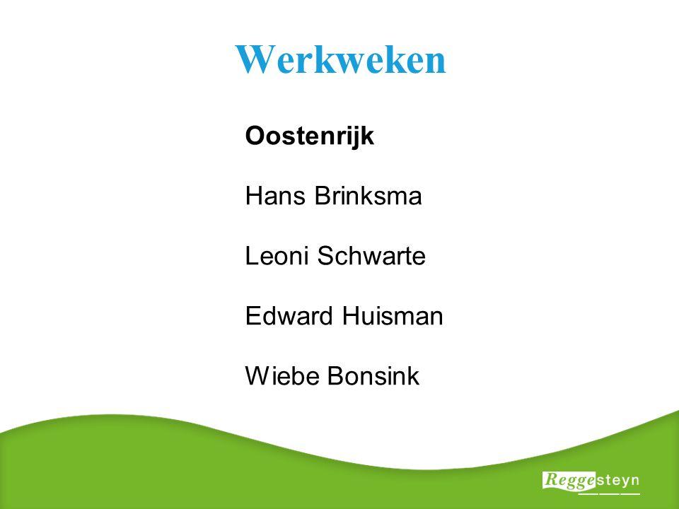 Werkweken Oostenrijk Hans Brinksma Leoni Schwarte Edward Huisman Wiebe Bonsink