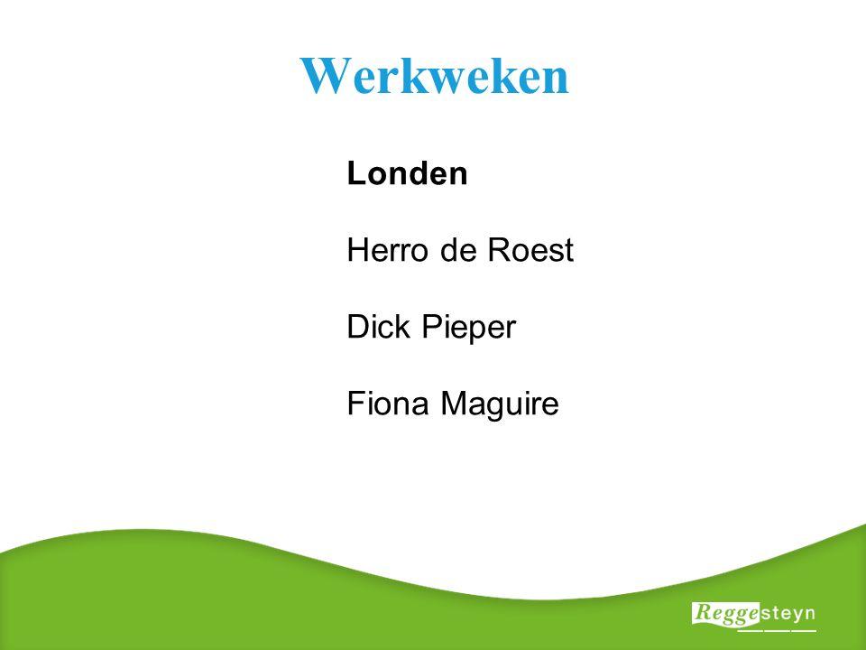Werkweken Londen Herro de Roest Dick Pieper Fiona Maguire