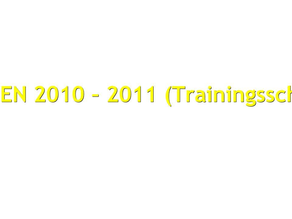 SEIZOEN 2010 – 2011 (Trainingsschema)