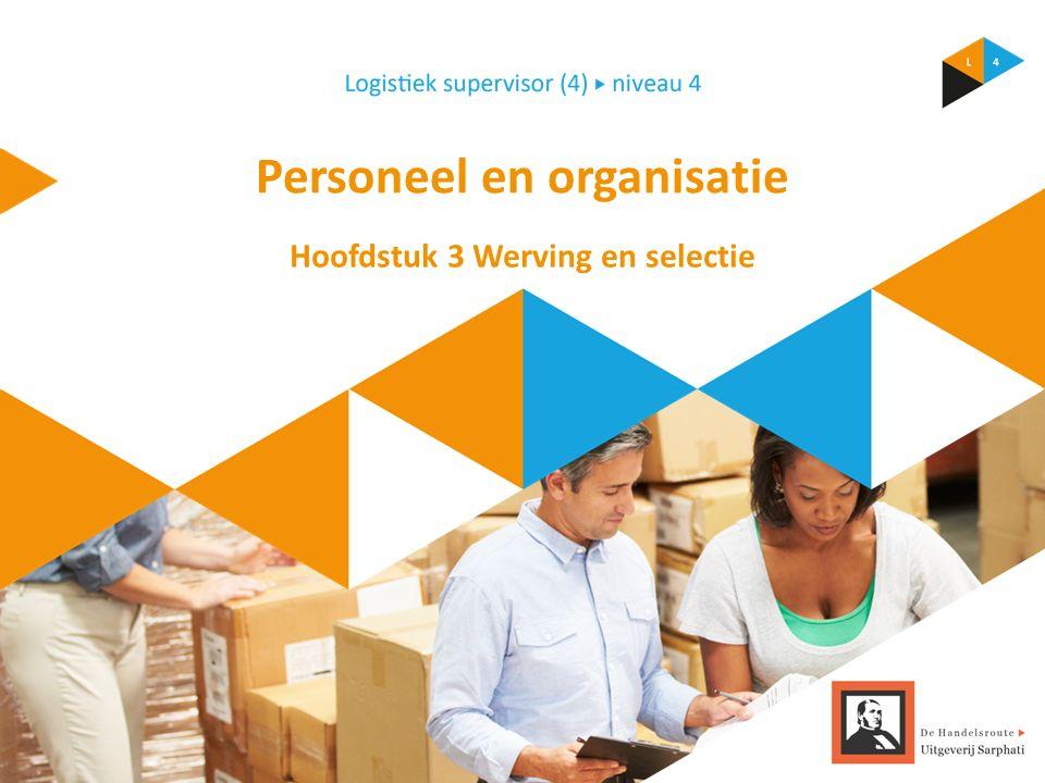 Personeel en organisatie Hoofdstuk 3 Werving en selectie