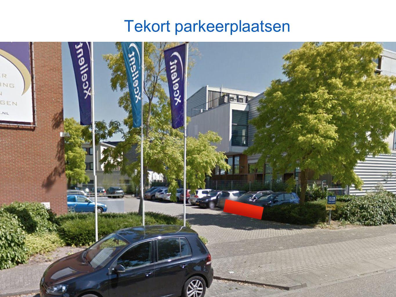 Tekort parkeerplaatsen