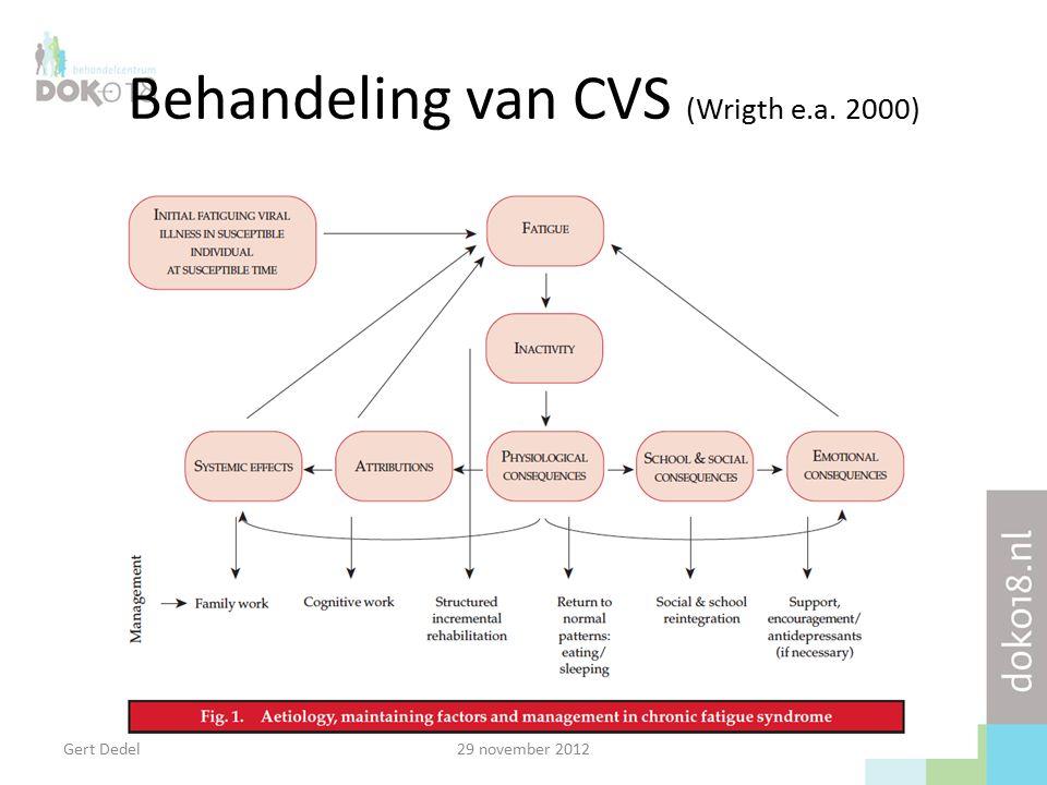 Behandeling van CVS (Wrigth e.a. 2000) Gert Dedel29 november 2012