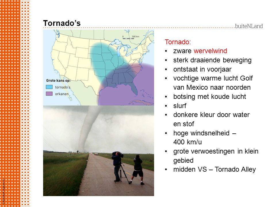 Tornado's Tornado: zware wervelwind sterk draaiende beweging ontstaat in voorjaar vochtige warme lucht Golf van Mexico naar noorden botsing met koude