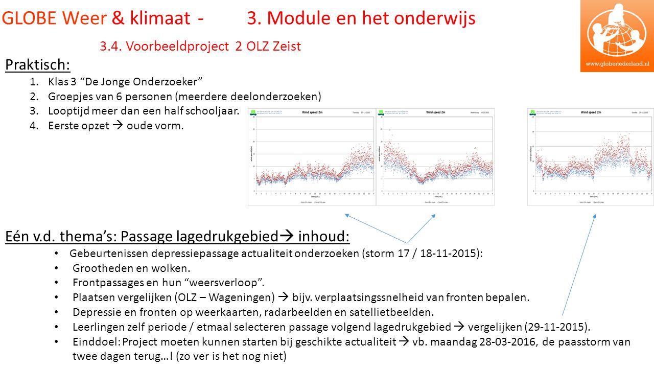 GLOBE Weer & klimaat - 3. Module en het onderwijs 3.4.