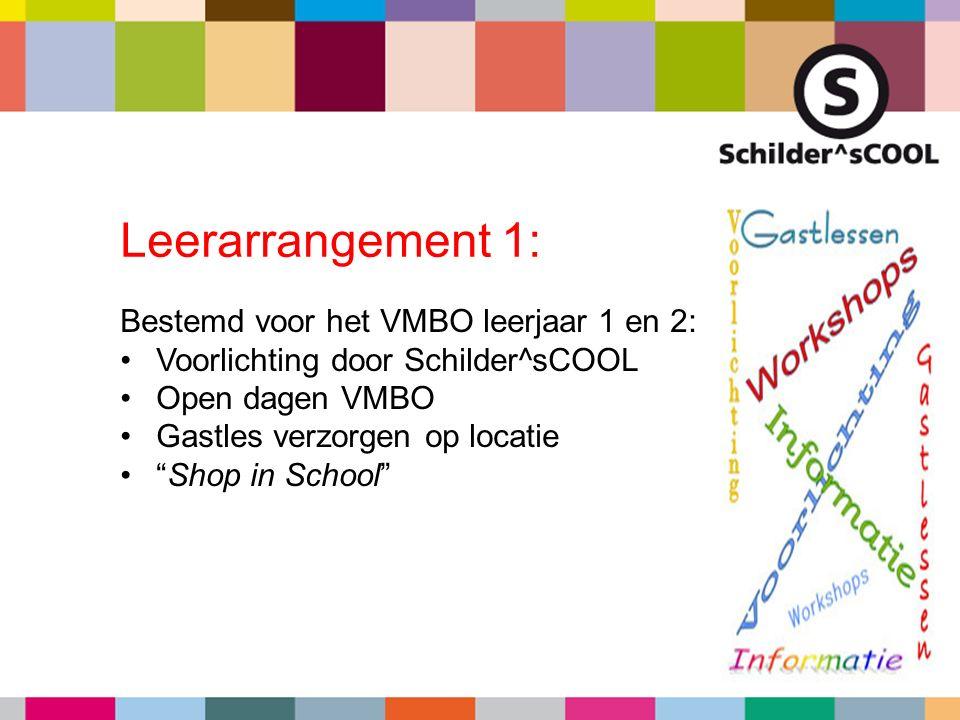"""Bestemd voor het VMBO leerjaar 1 en 2: Voorlichting door Schilder^sCOOL Open dagen VMBO Gastles verzorgen op locatie """"Shop in School"""" Leerarrangement"""