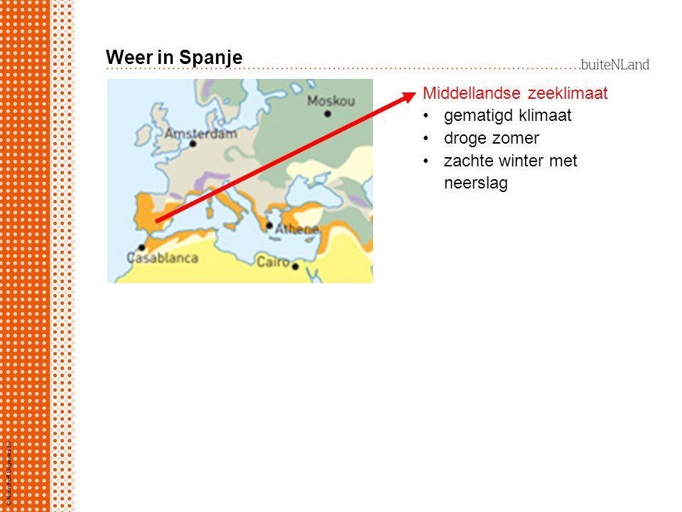 Weer in Spanje Middellandse zeeklimaat gematigd klimaat droge zomer zachte winter met neerslag