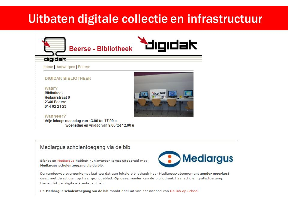 Uitbaten digitale collectie en infrastructuur
