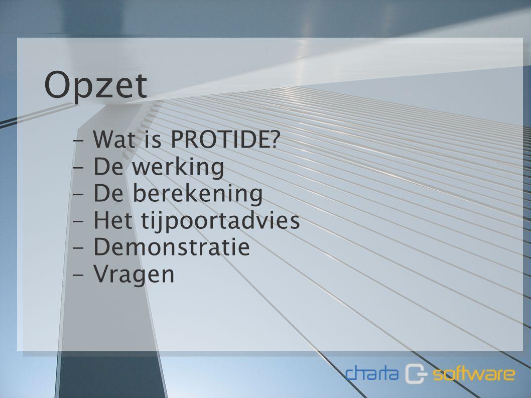 11 januari 20112 Opzet - Wat is PROTIDE.