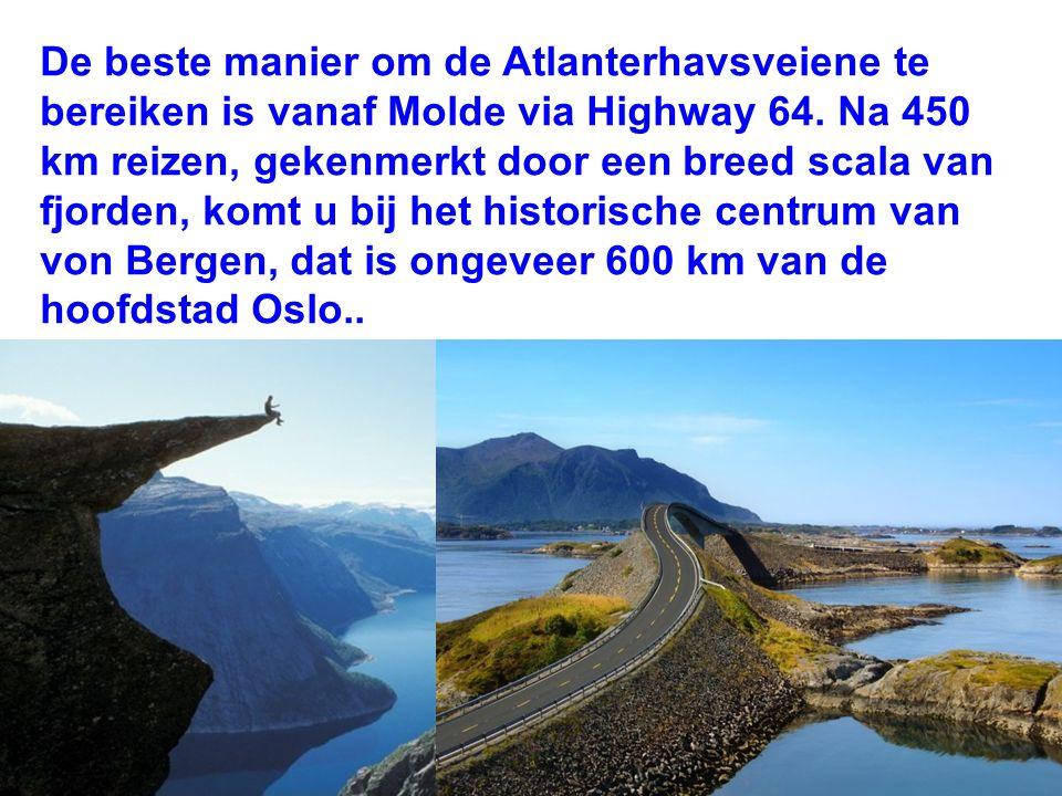 De beste manier om de Atlanterhavsveiene te bereiken is vanaf Molde via Highway 64.