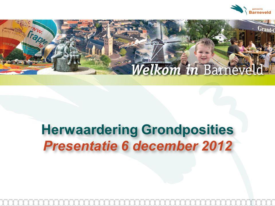 Herwaardering Grondposities Presentatie 6 december 2012