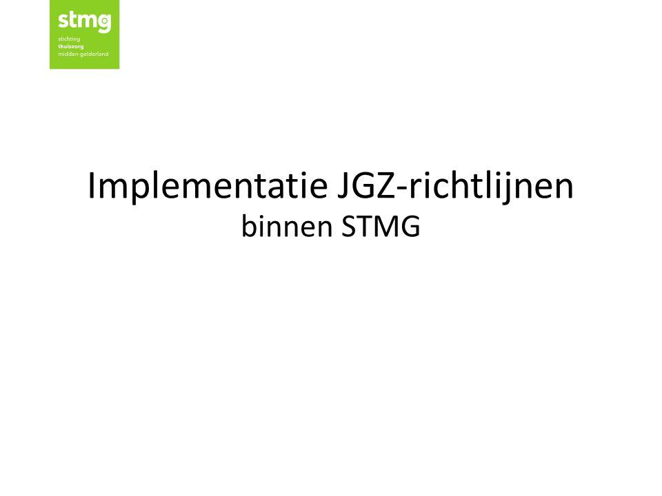 Implementatie JGZ-richtlijnen binnen STMG