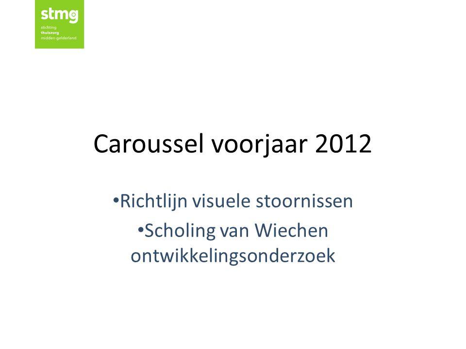 Caroussel voorjaar 2012 Richtlijn visuele stoornissen Scholing van Wiechen ontwikkelingsonderzoek