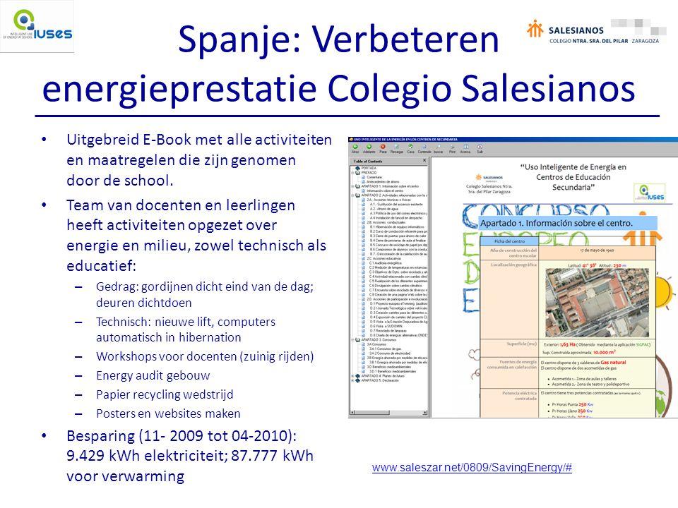 Spanje: Verbeteren energieprestatie Colegio Salesianos Uitgebreid E-Book met alle activiteiten en maatregelen die zijn genomen door de school.