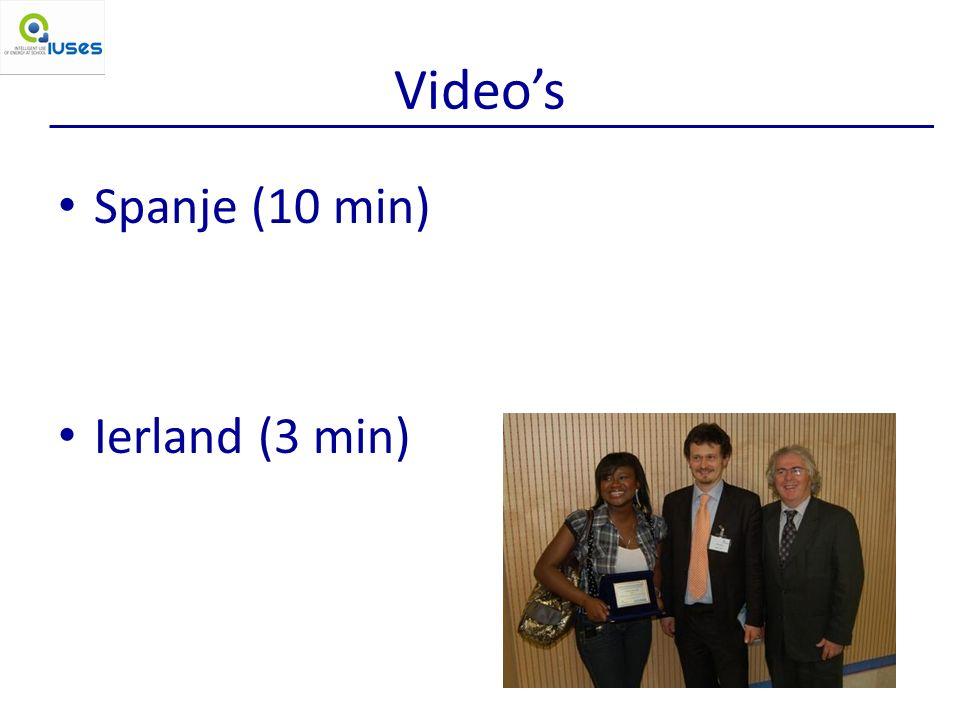 Video's Spanje (10 min) Ierland (3 min)