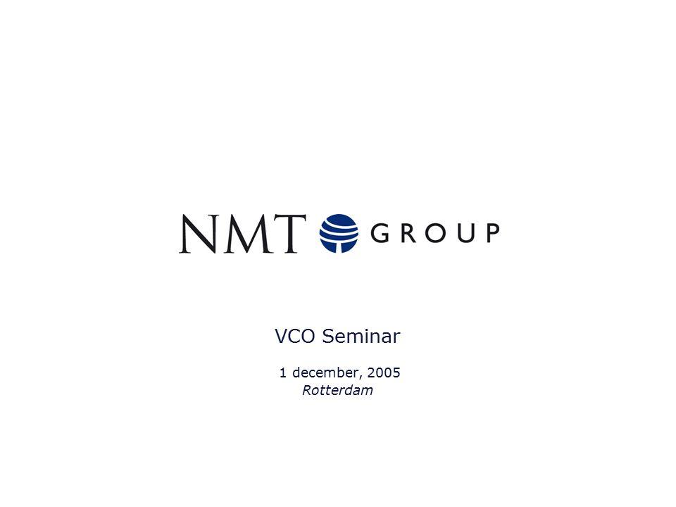 1 VCO Seminar 1 december, 2005 Rotterdam