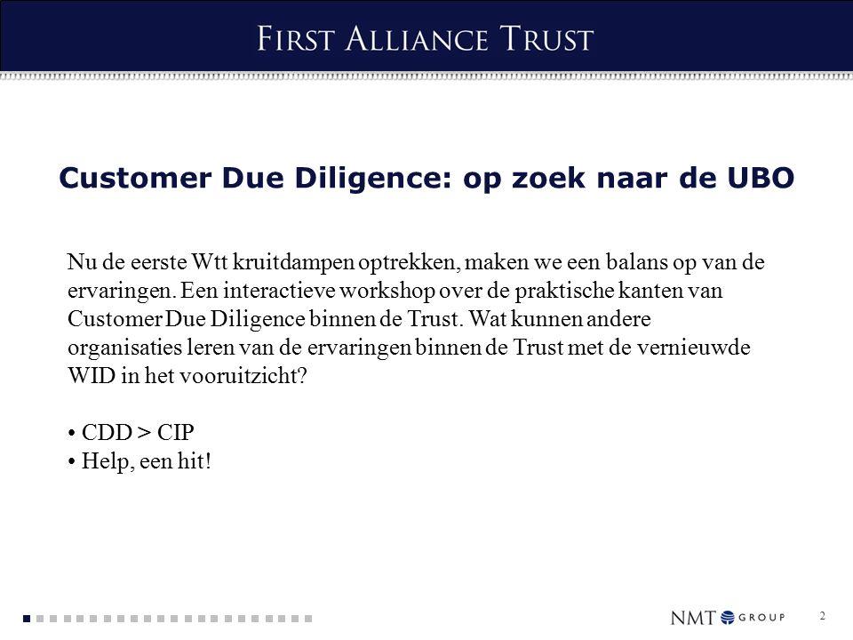 2 Customer Due Diligence: op zoek naar de UBO Nu de eerste Wtt kruitdampen optrekken, maken we een balans op van de ervaringen.