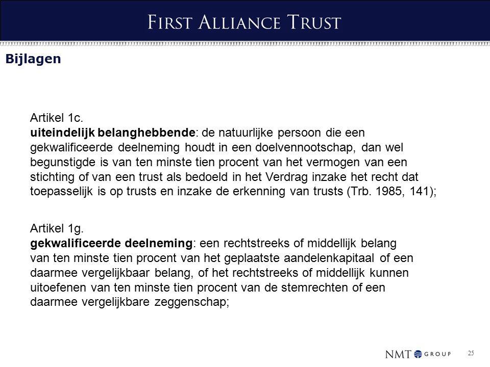 25 Bijlagen Artikel 1c.