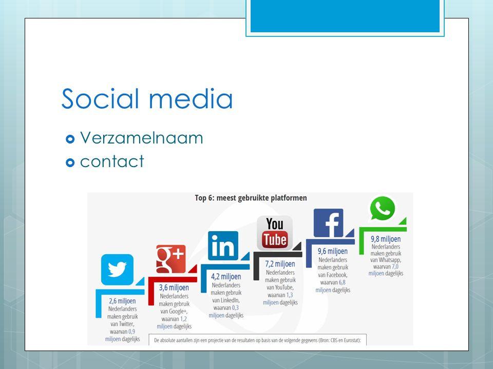 Social media  Verzamelnaam  contact