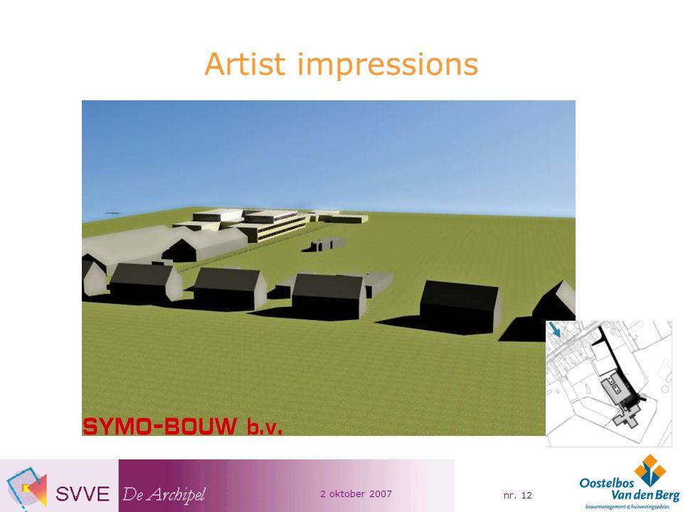 2 oktober 2007 nr. 12 Artist impressions