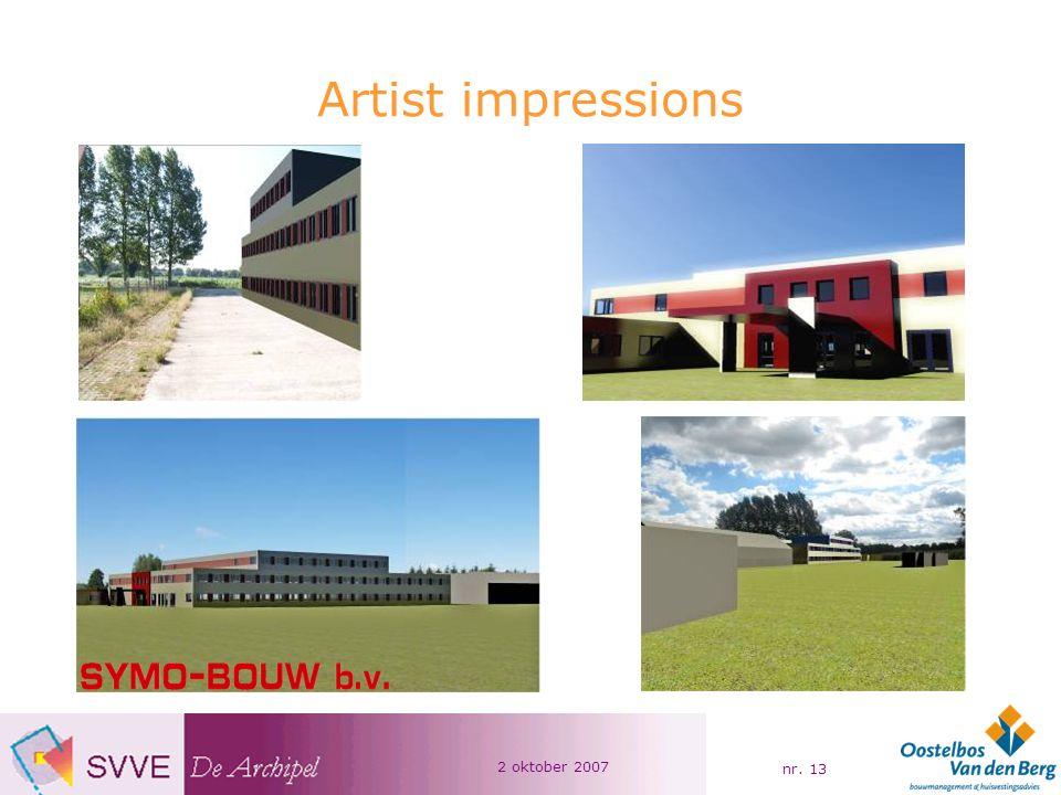 2 oktober 2007 nr. 13 Artist impressions