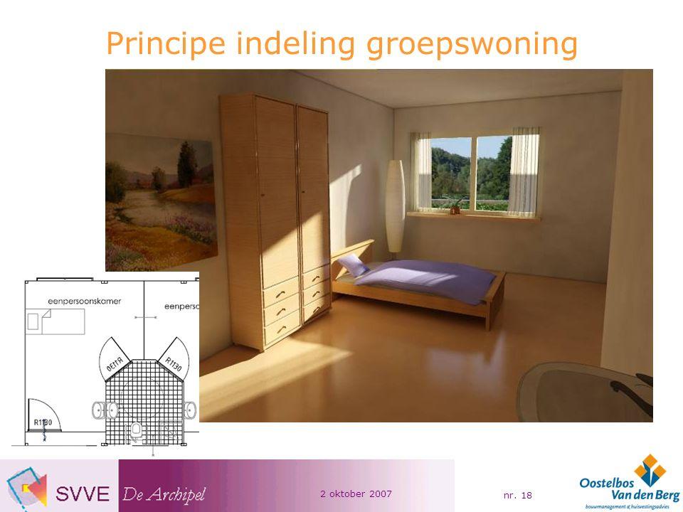 2 oktober 2007 nr. 18 Principe indeling groepswoning