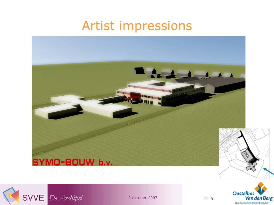 2 oktober 2007 nr. 9 Artist impressions