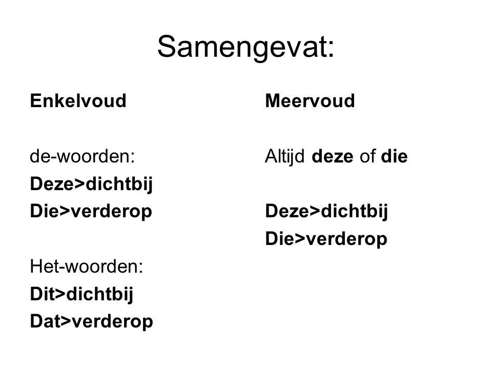 Wat is een aanwijzend voornaamwoord.Een aanwijzend voornaamwoord wijst iets aan.
