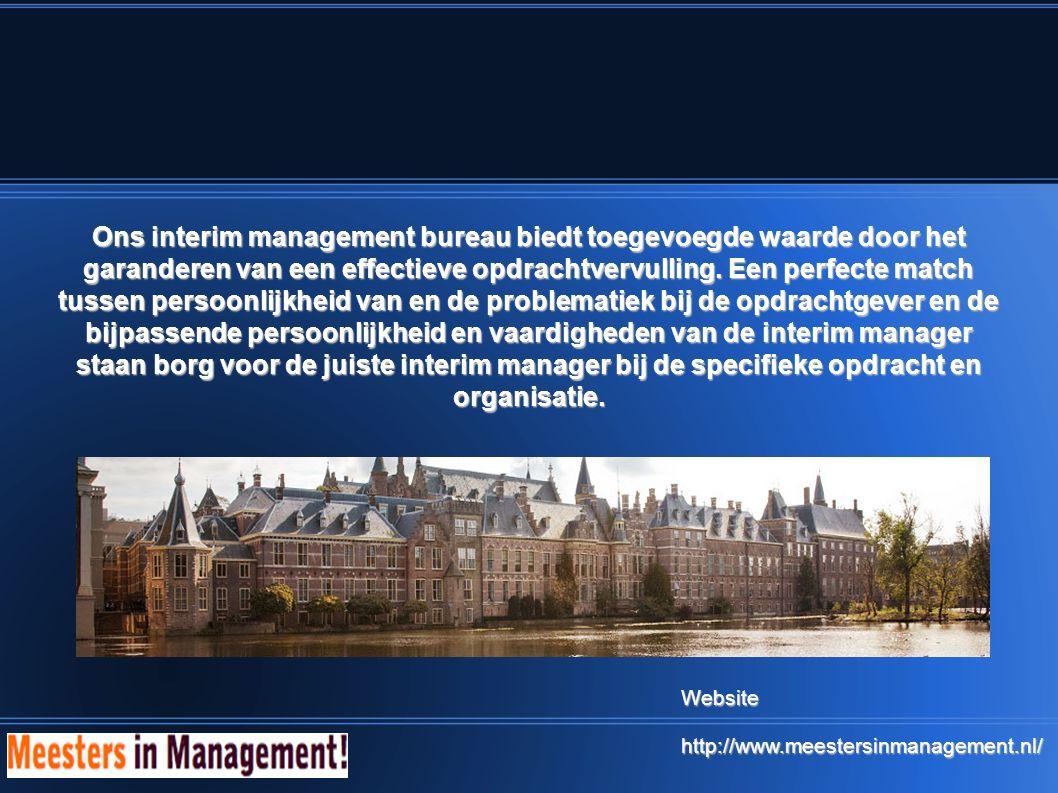 Ons interim management bureau biedt toegevoegde waarde door het garanderen van een effectieve opdrachtvervulling.