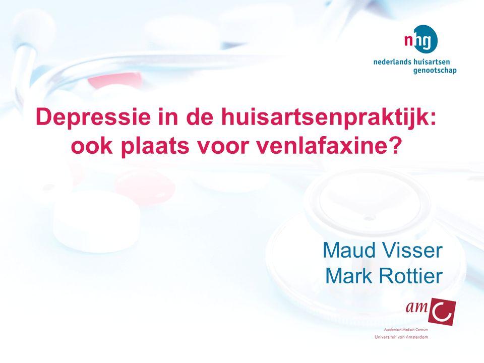 Depressie in de huisartsenpraktijk: ook plaats voor venlafaxine? Maud Visser Mark Rottier
