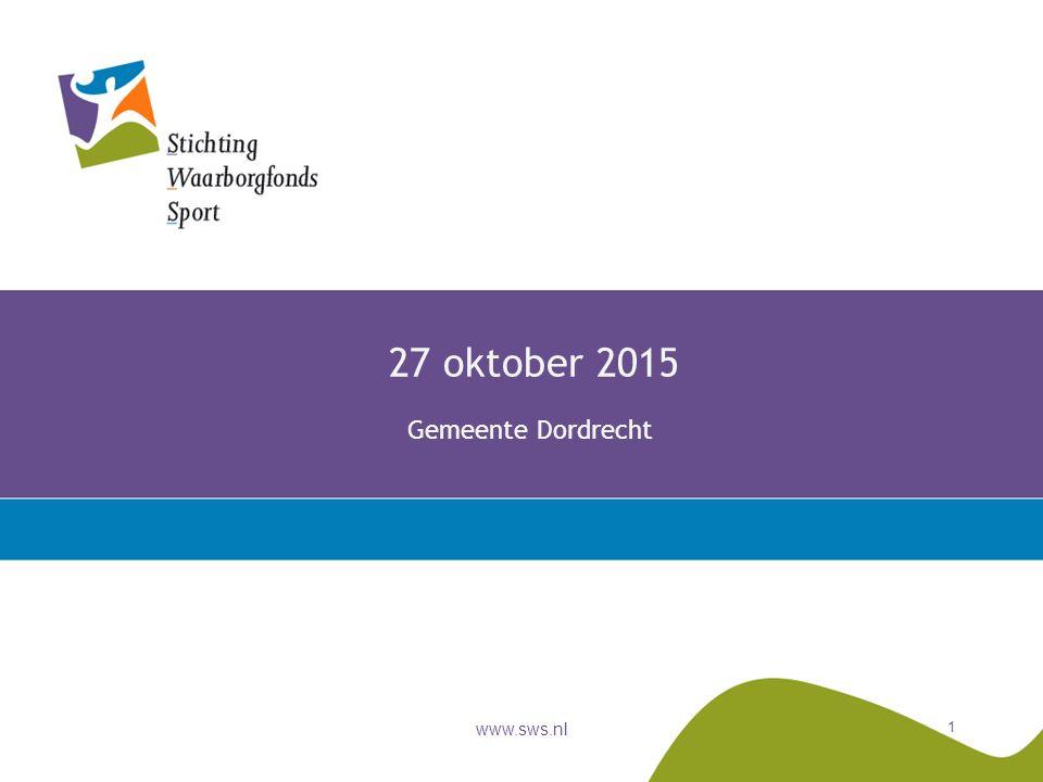 www.sws.nl 1 27 oktober 2015 Gemeente Dordrecht