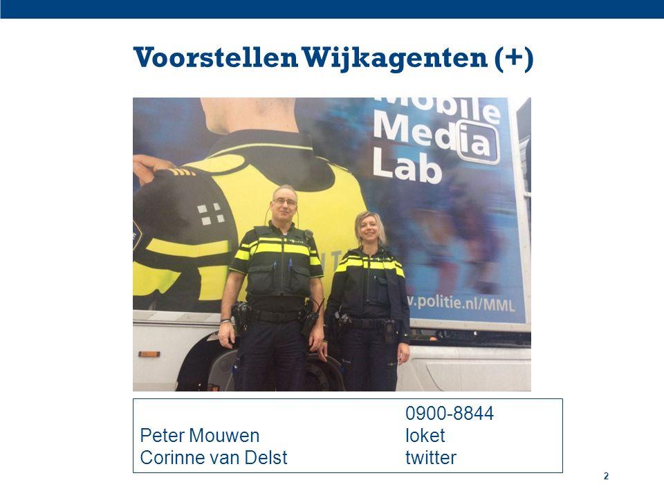 Voorstellen Wijkagenten (+) 2 0900-8844 Peter Mouwenloket Corinne van Delsttwitter