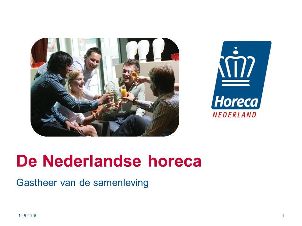 De Nederlandse horeca 19-9-20161 Gastheer van de samenleving
