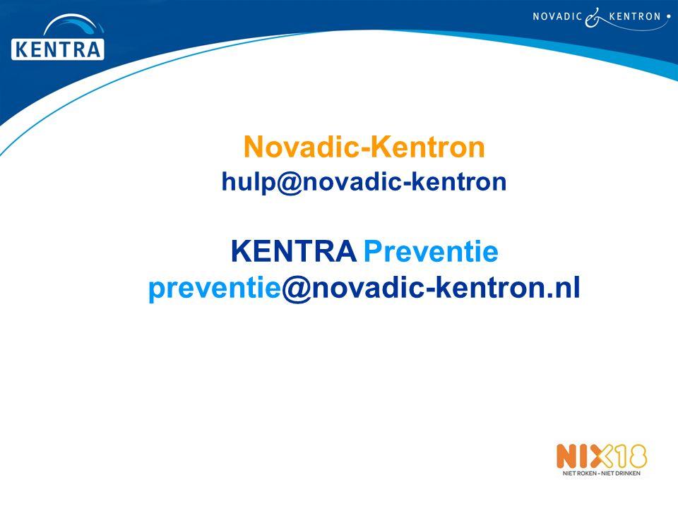 Novadic-Kentron hulp@novadic-kentron KENTRA Preventie preventie@novadic-kentron.nl