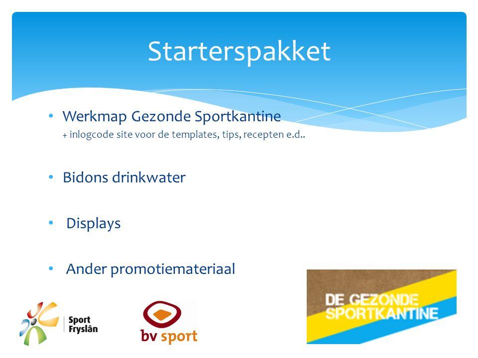 Werkmap Gezonde Sportkantine + inlogcode site voor de templates, tips, recepten e.d..
