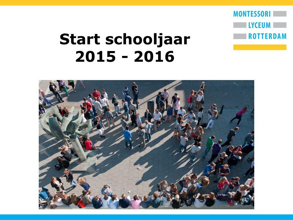 Start schooljaar 2015 - 2016