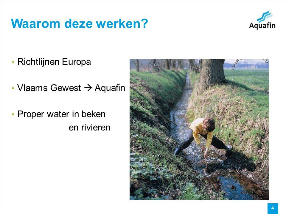 15-12-2010 Aquafin partner for all wastewater projects 15 Collector Voer fase 1 –het project Aquafin : nieuwe rioolstelsel + herstelling wegen en stoepen ifv aanleg riool (plan) VMM : * Bypass tussen Dr.
