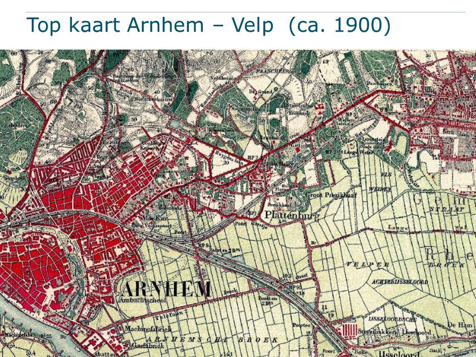 Top kaart Arnhem – Velp (ca. 1900)