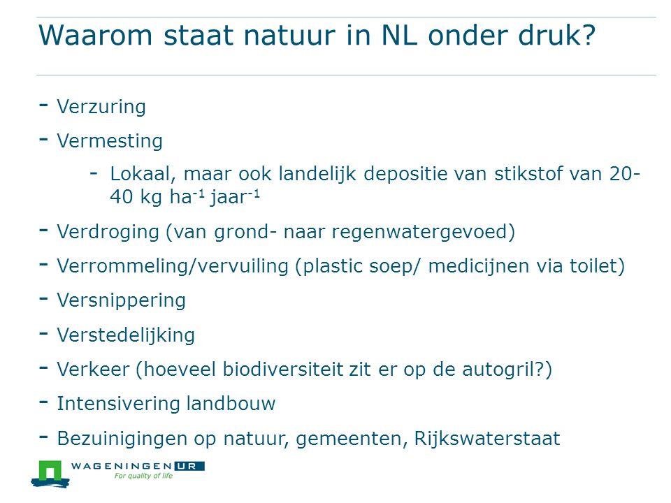 Waarom staat natuur in NL onder druk.