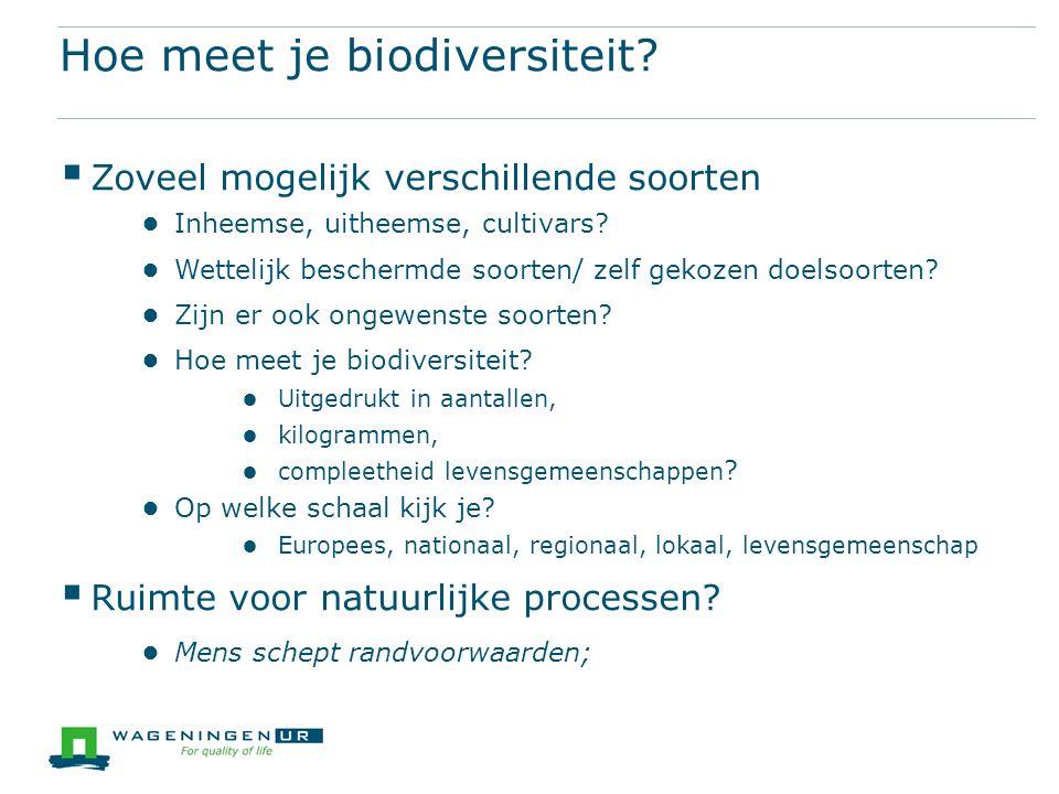 Hoe meet je biodiversiteit.