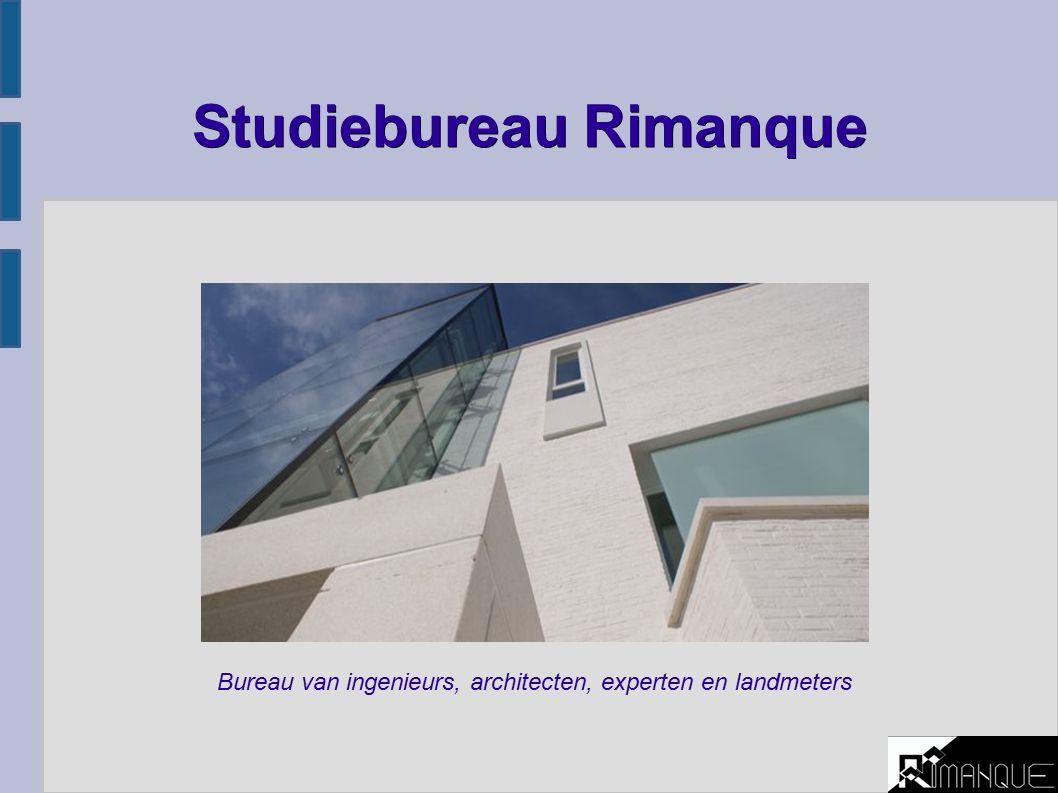 Studiebureau Rimanque Bureau van ingenieurs, architecten, experten en landmeters