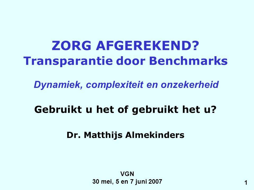 VGN 30 mei, 5 en 7 juni 2007 ZORG AFGEREKEND.
