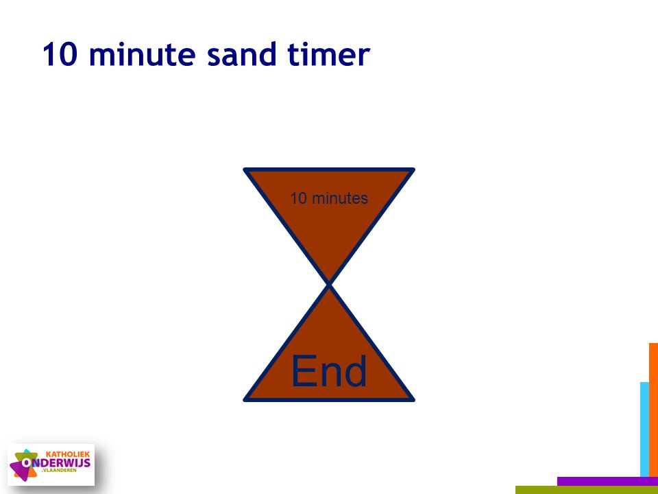 10 minute sand timer 10 minutes End